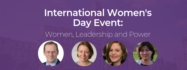 International Women's Day Event: Women, Leadership and Power