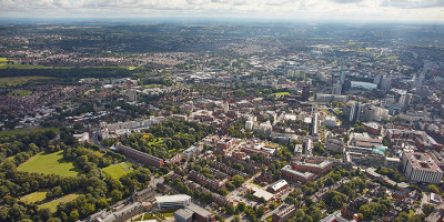 An aerial view of the Leeds city region