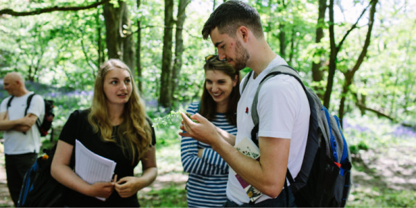 Postgraduate taught masters students on field course